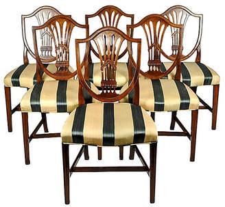 One Kings Lane Vintage Mahogany Dining Chairs - Set of 6 - La Maison Supreme