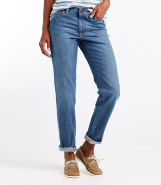 L.L. Bean L.L.Bean Women's 1912 Boyfriend Jeans, Favorite Fit Straight-Leg