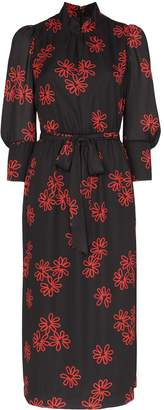 Simone Rocha Floral Printed Midi-Dress
