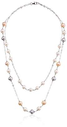 Bella Pearl Double Tin Cup Necklace