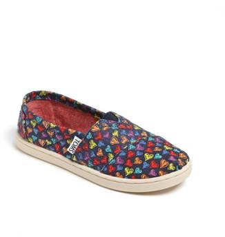 Toms 'Classic Youth - Heart' Slip-On (Toddler, Little Kid & Big Kid)