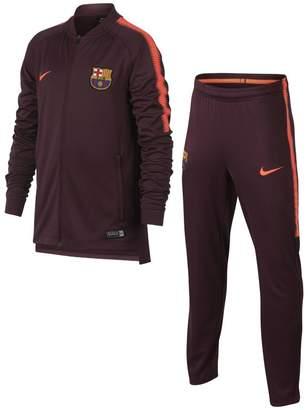 Nike FC Barcelona Dri-FIT Squad Older Kids'Football Track Suit