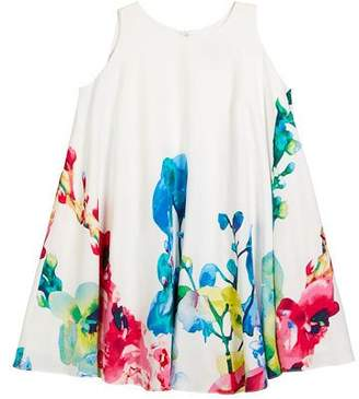 Helena Border Floral Swing Dress, Size 7-14