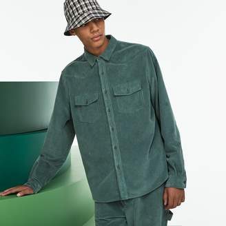 Lacoste Men's Fashion Show Ribbed Cotton Velour Shirt