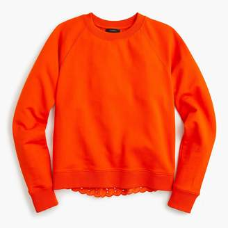 J.Crew Eyelet-back sweatshirt