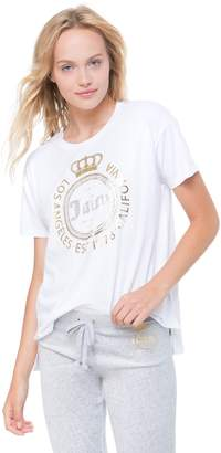 Juicy Couture Crown Luxe Crest High-Low Tee