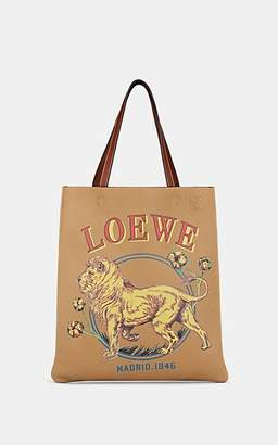 Loewe Men's Desert Lion-Graphic Leather Tote Bag - Beige, Tan