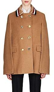 Thom Browne Women's Fur-Collar Camel Cape - Beige, Tan