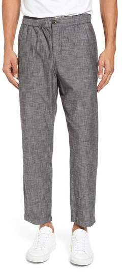 Crop Chambray Chino Pants