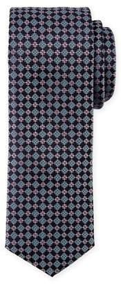 BOSS Neat Diamond Silk Tie