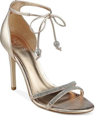 Guess Women's Peri Lace-Up Sandals Women's Shoes $119 thestylecure.com