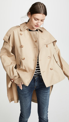 R 13 Tuck In Trench Coat