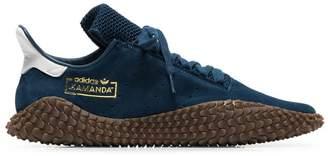 adidas blue Kamanda 01 low-top suede sneakers