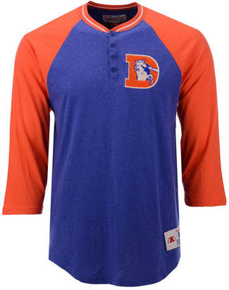 Mitchell & Ness Men's Denver Broncos Four Button Henley T-Shirt