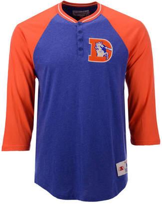 Mitchell & Ness Men Denver Broncos Four Button Henley T-Shirt