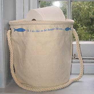 The Original Canvas Bucket Bag Company Pair Of Seaside Home Storage Bags