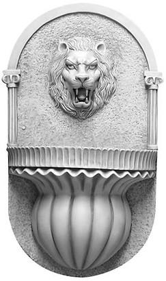 "Orlandi Statuary 35"" Lion Wall Fountain - Antiqued Stone"