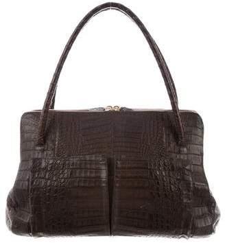 Nancy Gonzalez Alligator Shoulder Bag