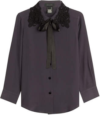 Marc Jacobs Silk Blouse with Embroidery