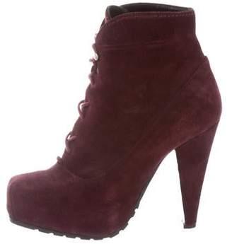 Proenza Schouler Suede Lace-Up Boots