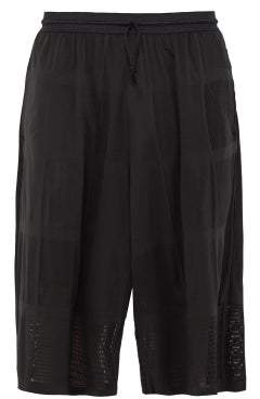 Y-3 Y 3 Patchwork Effect Mesh Shorts - Mens - Black