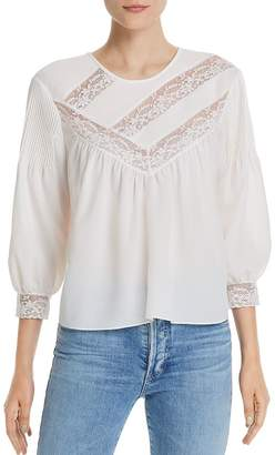 Joie Margette Lace-Inset Blouse