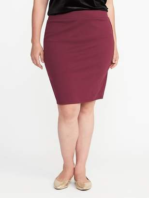 Old Navy Plus-Size Ponte-Knit Pencil Skirt
