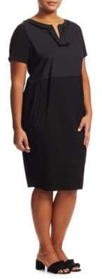 Marina Rinaldi Marina Rinaldi, Plus Size Black Jersey Dress