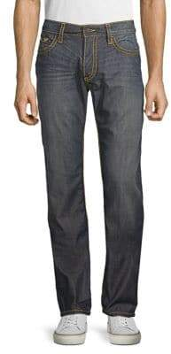 Heavy Stitched Logo Jeans
