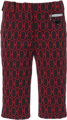 Prada Jacquard Knit Bermuda Short Size: 36