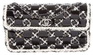 Chanel Patent Tweed Flap Bag