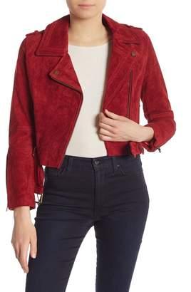 Vigoss Leather Suede Moto Jacket