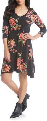 Karen Kane Hailey Floral Print Dress