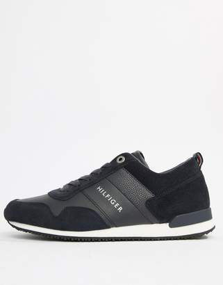 Tommy Hilfiger suede mix sneaker in navy
