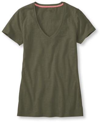 L.L. Bean L.L.Bean West End Fitted Tee, Short-Sleeve V-Neck