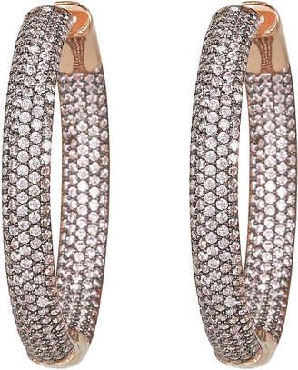 Nickho Rey Tire Crystal Embellished Hoop Earrings