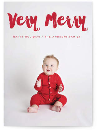 Very merry Holidays Custom Selflaunch Stationery