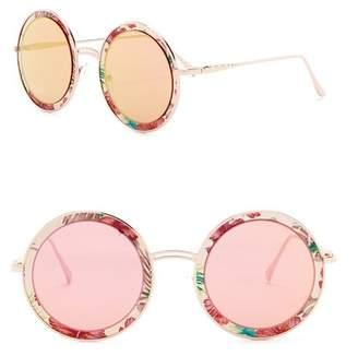 Steve Madden 58mm Classic Round Sunglasses