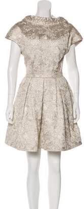 Zac Posen Embroidered Sleeveless Mini Dress