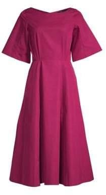 Derek Lam Women's Short Sleeve A-Line Midi Dress - Plum - Size 40 (4)