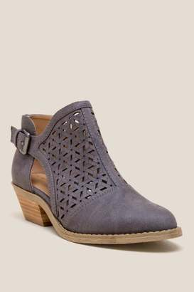 Report Deena Side Chop Out Ankle Boot - Blue