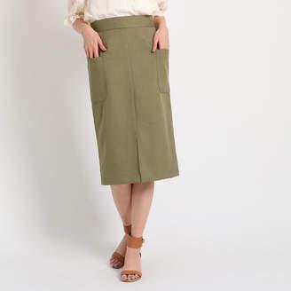aquagirl (アクアガール) - AG バイアクアガール 【Lサイズあり】【洗える】フロントスリットタイトスカート