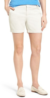 Women's Caslon Cotton Twill Shorts $49 thestylecure.com