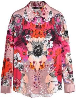 Roberto Cavalli Printed Silk-Satin Shirt