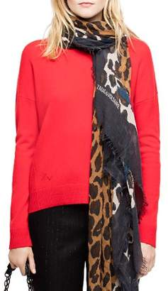 Zadig & Voltaire Cici Lightning-Patch Cashmere Sweater