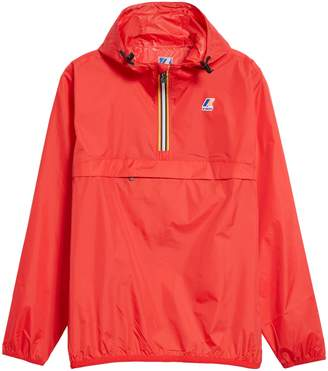 K-Way Le Vrai 3.0 Leon Water Resistant Quarter Zip Pullover Windbreaker