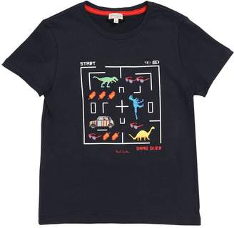 Paul Smith Game Print Cotton Jersey T-Shirt