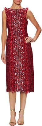 Monique Lhuillier Guipure Lace Sheath Dress