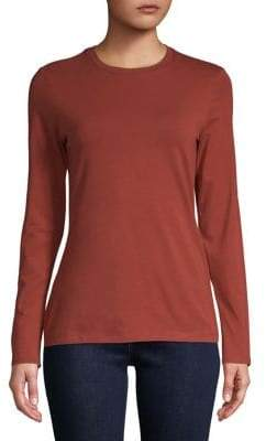 Lord & Taylor Petite Long-Sleeve Essential Crew Neck Tee