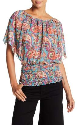 Papillon Pleated Paisley Top